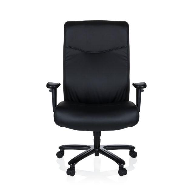 Hjh Office Fauteuil de bureau Xxl Everest simili cuir noir
