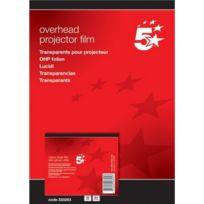5 Etoiles - Etl- Boîte de 50 transparents pour Imprimantes jet d'encre Hp Deskjet/Deskwriter Pvc Incolore