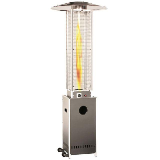 Empasa Parasol Chauffant au Gaz Optical Pro - Vraie flamme - Gris