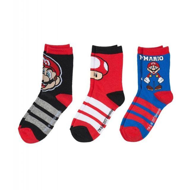 Super Mario - Lot de 3 paires de chaussettes Super Mar