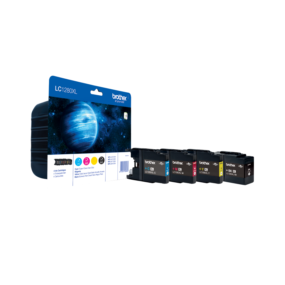 LC1280XLVALBP pack de 4 cartouches d'encre noir/cyan/magenta/jaune grande capacité authentiques