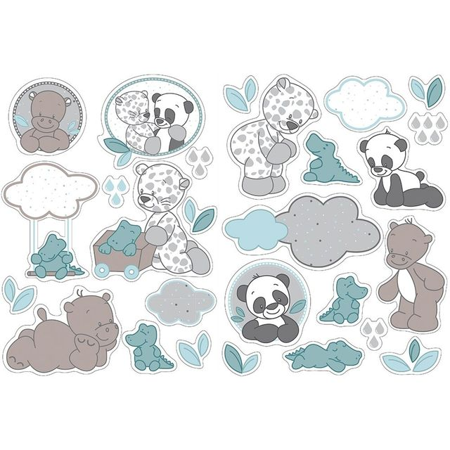 Nattou Autocollants Stickers Decoratifs Lea Loulou Hippolyte