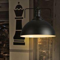Wewoo   Lampe Suspendue Luminaire Salon Suspension Industrielle Rétro  Créative à Une Tête, à Suspendre