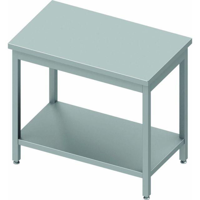 Materiel Chr Pro Table de Travail Centrale Inox - Etagère - Gamme 800 - Stalgast - inox 400x800 800 à monter