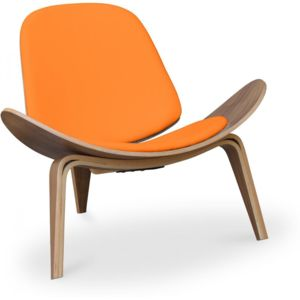 Privatefloor Fauteuil Lounge Ch Design Scandinave Style Hans J - Fauteuil cuir design scandinave