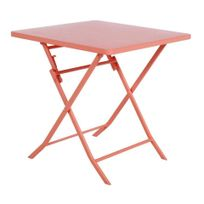 HESPERIDE - Table carrée Greensboro corail