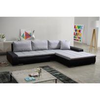 Rocambolesk - Canapé Rivoli noir gris sofa divan