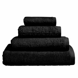 Essix - Serviette de bain Aqua en Coton Noir - 55 x 100 cm