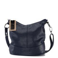 Oh My Bag - Sac à main femme en cuir - Modèle Beaubourg bleu foncé