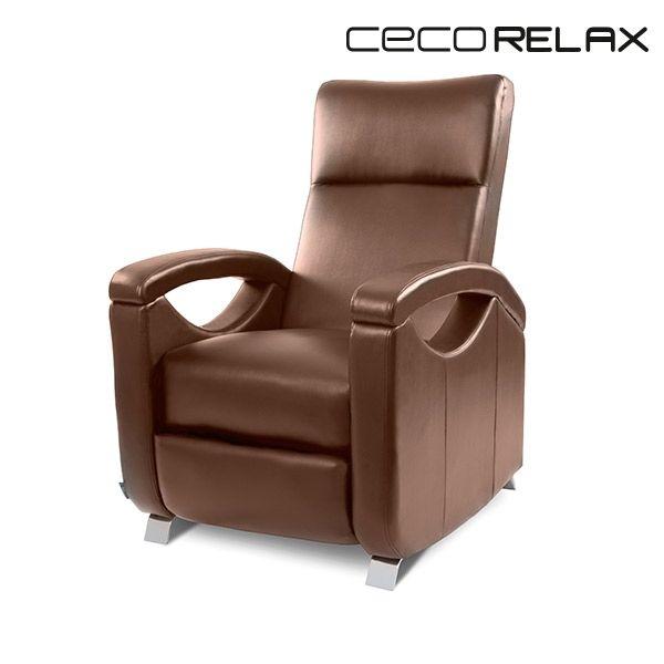 Sans Marque Fauteuil Relax Masseur Push Back Marron Cecorelax 6027