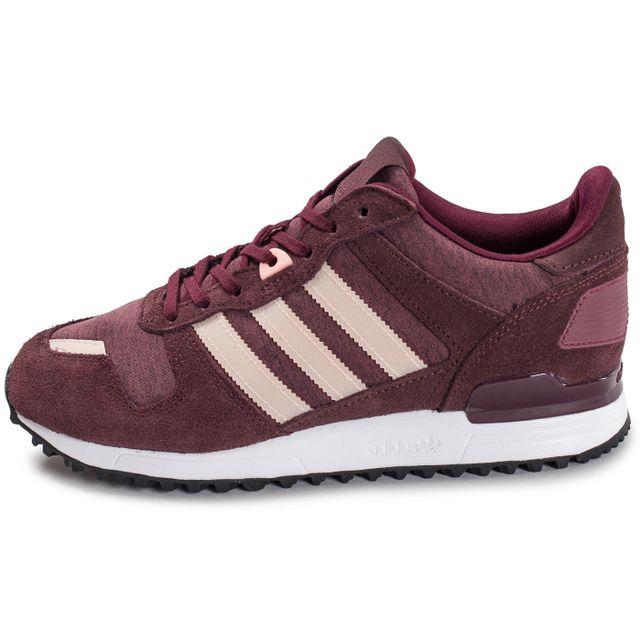 Adidas originals - Zx 700 W Bordeaux - pas cher Achat / Vente Baskets femme - RueDuCommerce