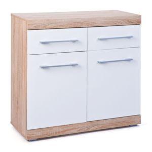Soldes paris prix buffet 2 portes 2 tiroirs luni blanc for Soldes portes interieures