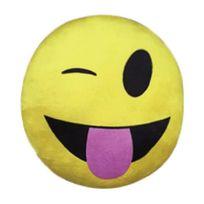 Imoji - Smiley Coussin Deco de 33 cm Winking + Love
