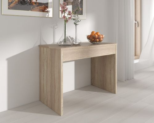 Home innovation table de salle manger extensible jusquu cm for Table salle a manger bois extensible