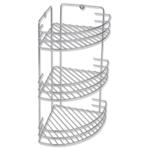 Rocambolesk - Superbe Étagère d'angle de salle de bain en métal Neuf