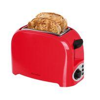 Domoclip - Grille pain Rouge/Noir 2 fentes 750W éjection auto et ramasse miette Dod112RN