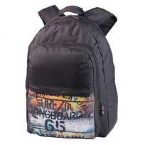 Longboard - Sac à dos Trade Mark G5 2 compartiments noir