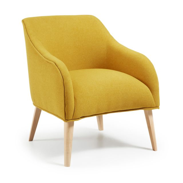 Kavehome Fauteuil Bobly, moutarde