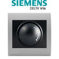 Siemens - Va et Vient Variateur 500W Anthracite Delta Iris + Plaque basic Silver