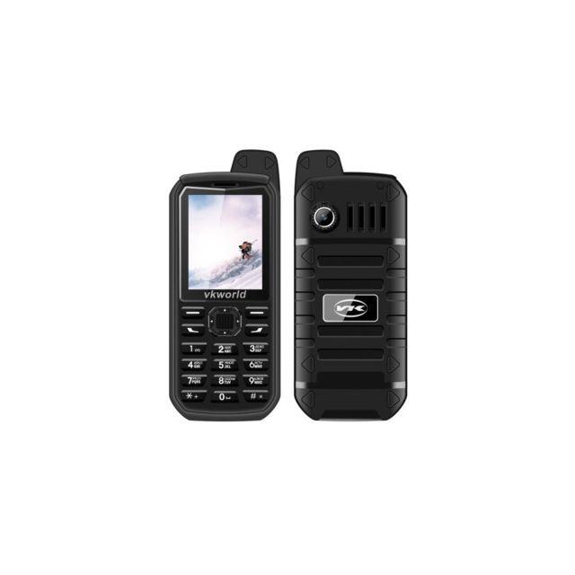 Auto-hightech Téléphone 2,4 pouces, étanche, anti-poussière, 2G avec clavier numérique - Noir