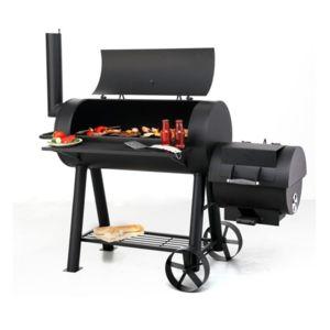 outdoor grand barbecue xxl familial tonneau am ricain avec fumoir tr s solide 75kg pas. Black Bedroom Furniture Sets. Home Design Ideas