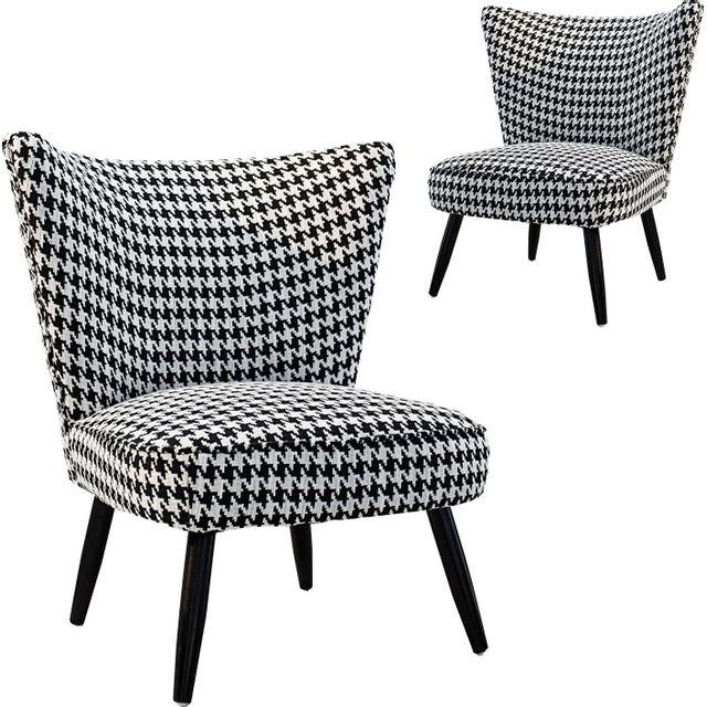 COMFORIUM Lot de 2 fauteuils moderne en polyester noir et blanc