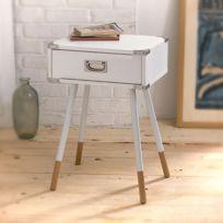 Casame - Table de chevet blanche