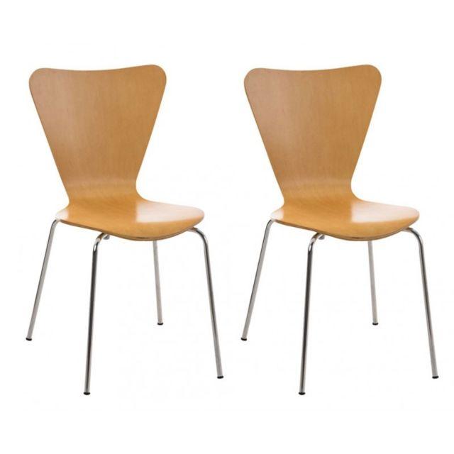 Lot de 2 chaises de séjour bureau en bois et métal Cds10008