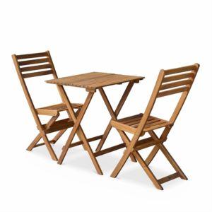 alice 39 s garden salon de jardin bistrot pliable figueres carr en bois table carr e 60x60cm. Black Bedroom Furniture Sets. Home Design Ideas