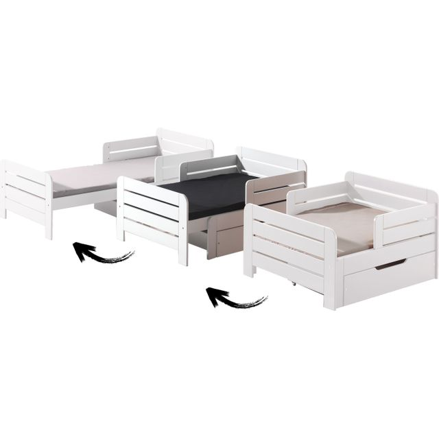 tiroir lit evolutif taupe 90x140 vendu par alfred et compagnie 755988. Black Bedroom Furniture Sets. Home Design Ideas