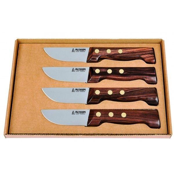 Aunain Coffret 4 couteaux à steak Le P'tit Boucher Au Nain