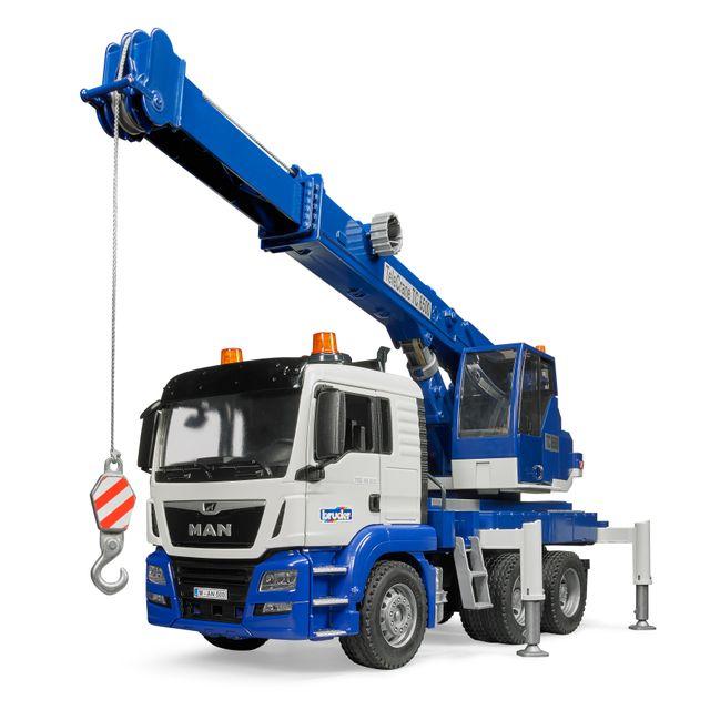 BRUDER Camion MAN TGS avec grue Crane intégrée et module son et lumière - 3770