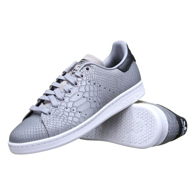 Adidas originals - Chaussure Adidas Stan Smith W S75631 Gris Croco ... a3f5c692537d