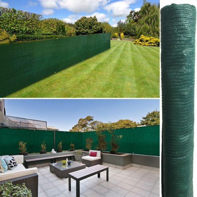 IDMARKET Brise vue vert 1 x 5 m 90 gr/m² classique
