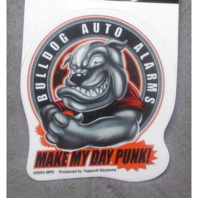 Universel Min sticker bulldog auto alarms autocollant rock roll chien