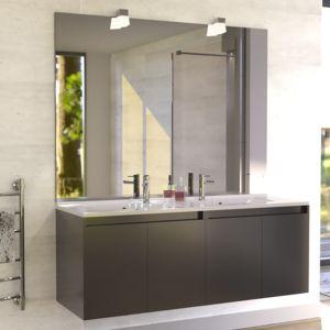Creazur meuble salle de bain double vasque proline 140 - Facade meuble salle de bain ...