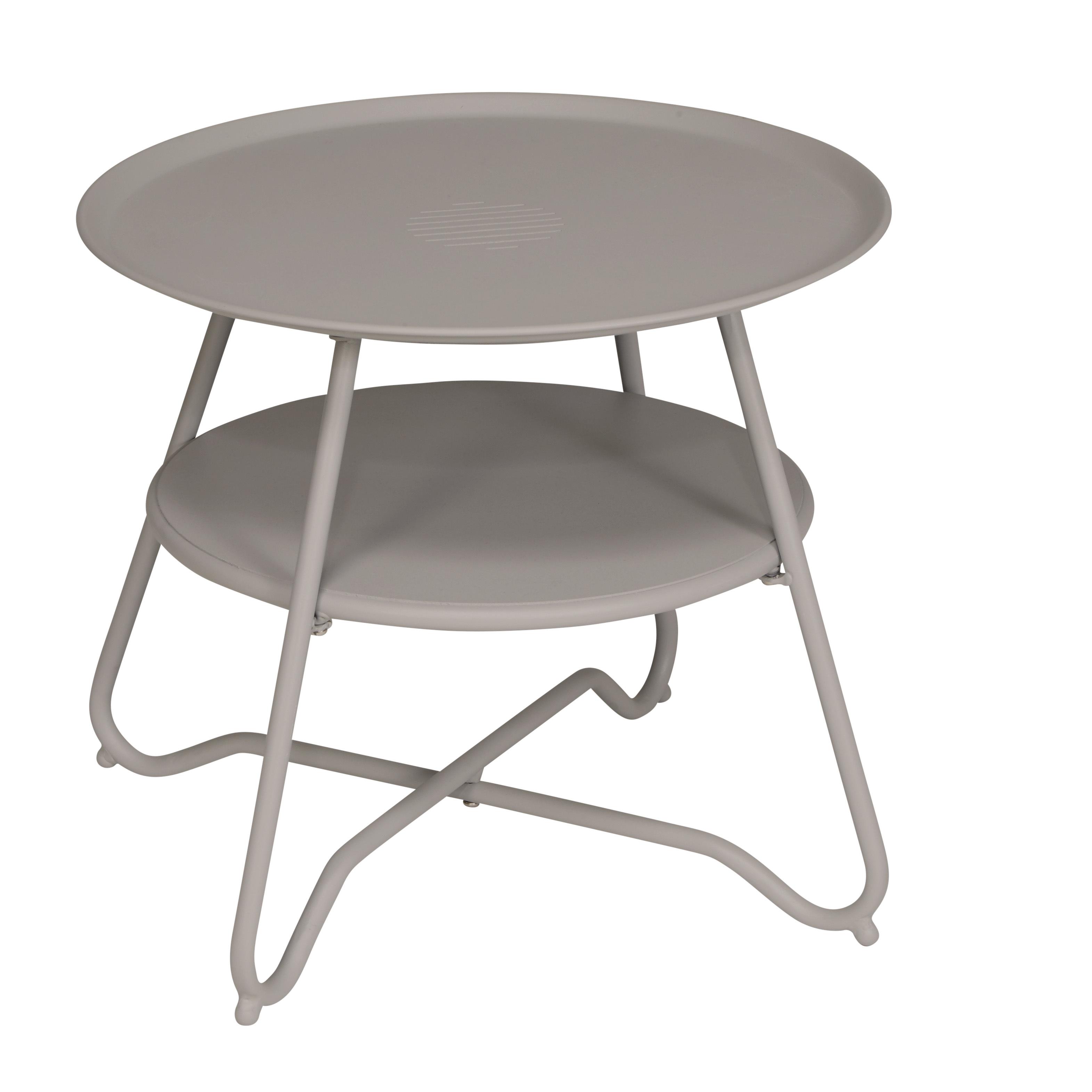 Hyba Table Basse De Jardin Alu 151 Taupe Ltff7823 Pas Cher  # Table De Jardin Hyba