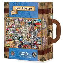 Master Pieces - Puzzle 1000 pièces : Best of Europe