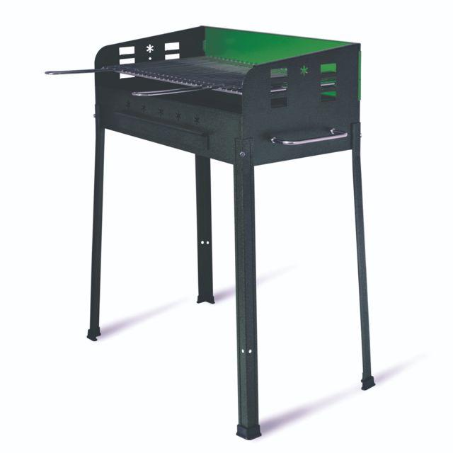 Evergreen barbecue au charbon de bois 40 x 70 x 90h avec grille réglable Eg56466