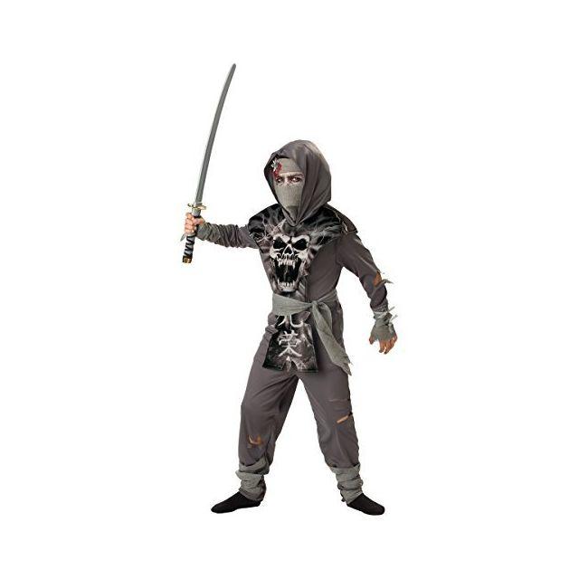 Fun World InCharacter Costumes Boys 8-20 Zombie Ninja Costume Gray X-large