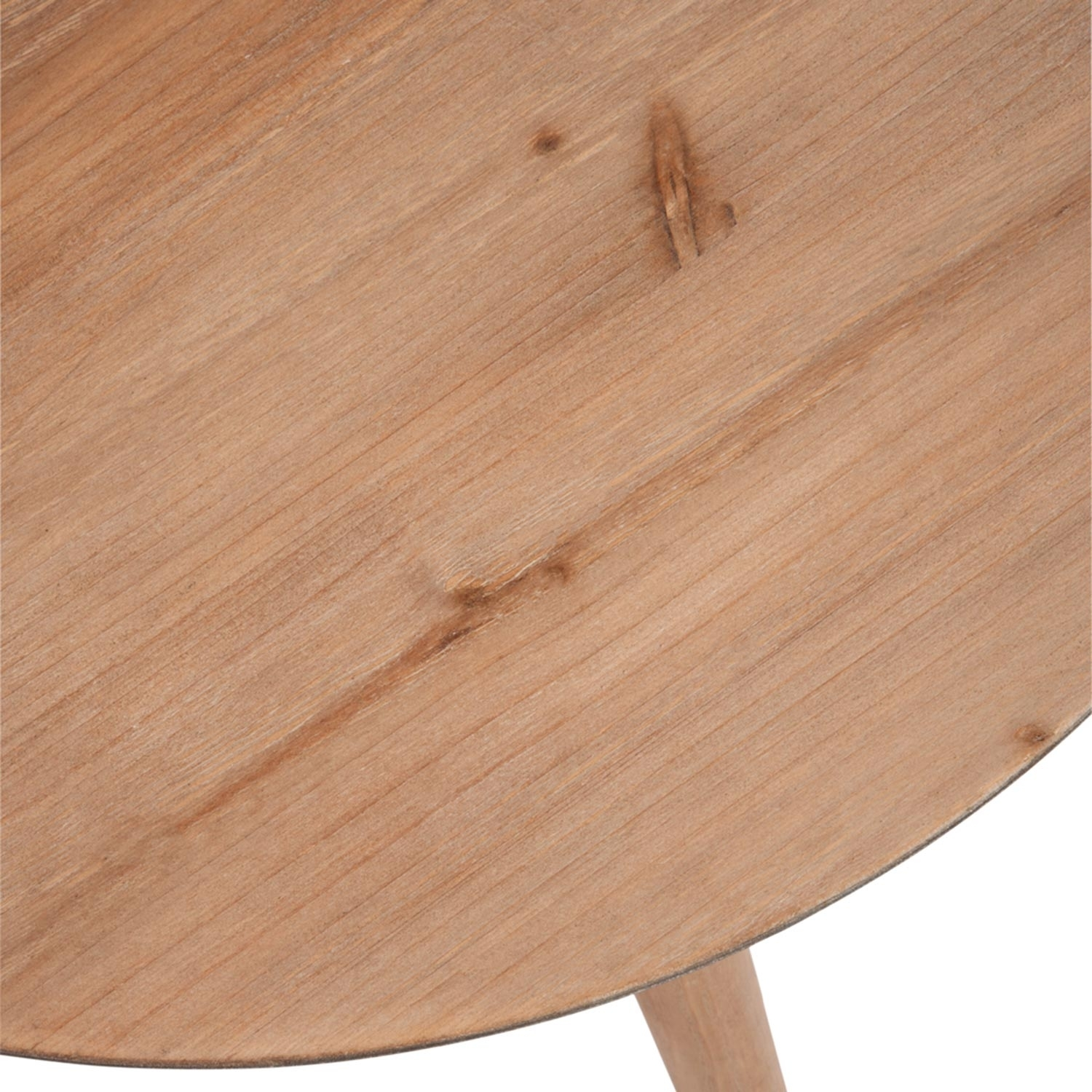 Table basse scandinave ronde Jalea Chêne