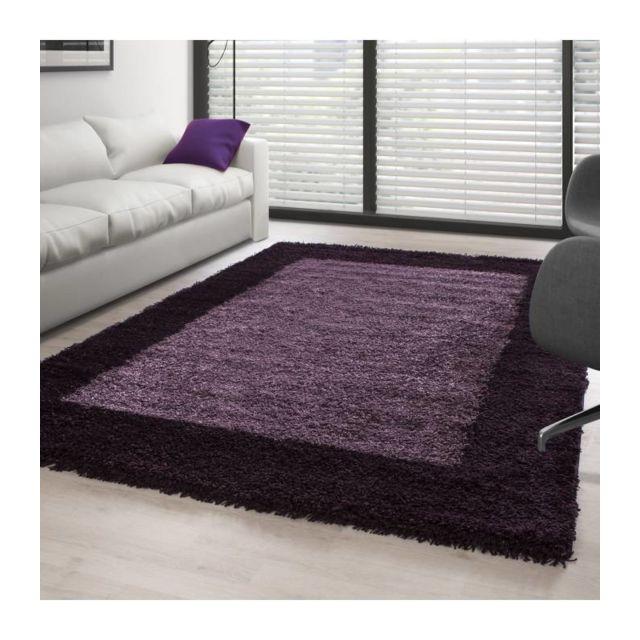 Tapis Shaggy pile longue designe Violet