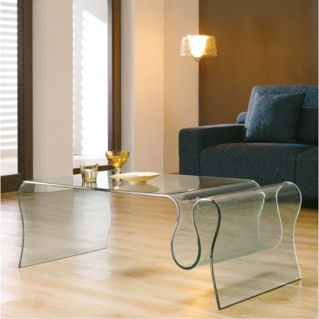 Meubler Design Table basse verre Luna