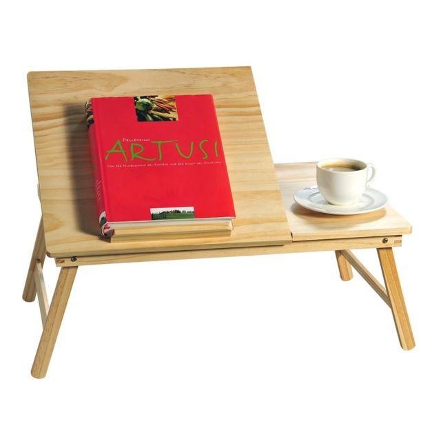 plateau pliable pupitre en pin petit dejeuner au lit. Black Bedroom Furniture Sets. Home Design Ideas