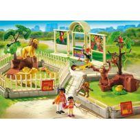 Playmobil - City Life 5969 Zoo avec famille de lions et singes