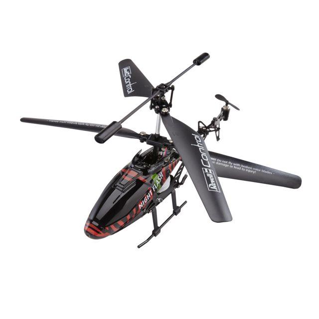 """SILVERLIT Kit RC à construire Helico""""NIGHT FLASH Hélicoptère RC en Kit à construire (pas de soudure) - Fonctionne à batterie rechargeable (+ piles pour la radio) - Radio 3 voies 2,4 GHz pour vol en intérieur et ext&"""