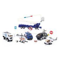 Motor & Co - Coffret véhicules aéroport - pompiers-militaires-policier