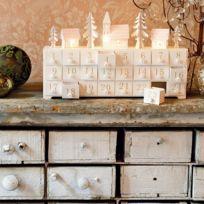 Blachere Illumination - Maison bois avec tiroirs blanc chaud
