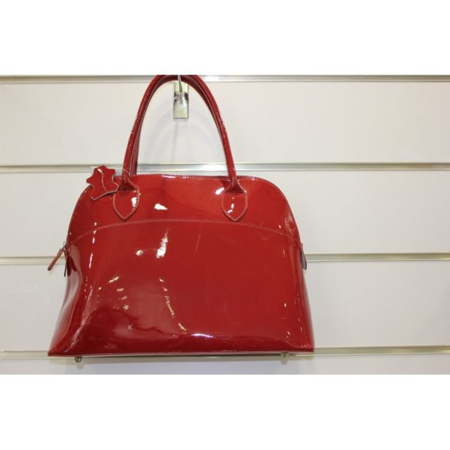 d7a6adc995 Kevim - Sac en cuir olivia verni rouge made in italie 818 - pas cher ...