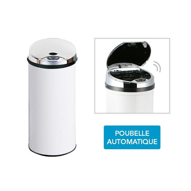 FRANDIS Poubelle Automatique Sensor - blanc 45L